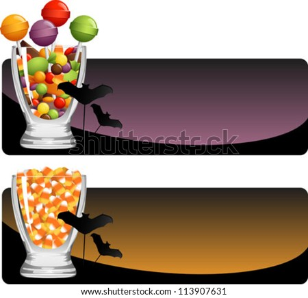A trio of bright red halloween candy apples. Spider & web on separate layer, easy to remove. Apples on separate layer, easy to isolate. - stock vector