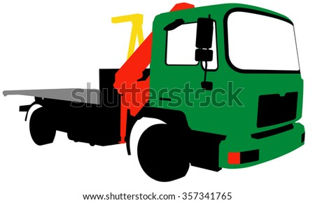 A truck with a loading arm. - stock vector