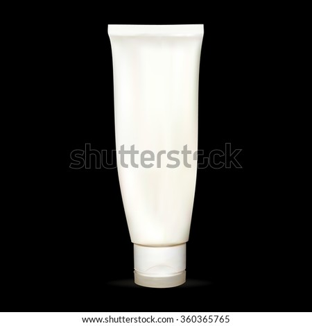 a tube of cream, lotion, white, empty, for applying your advertisement isolated vector, new clean - stock vector