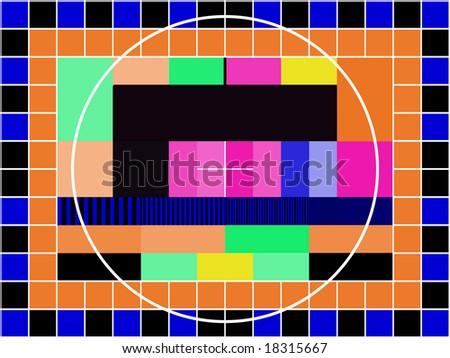 a TV transmission test card - stock vector