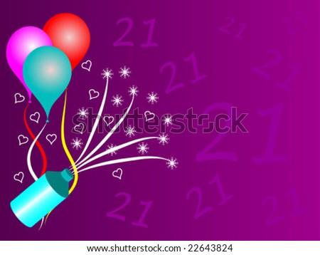 twenty first birthday party vector illustration stock vector