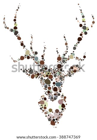 A unique and creative illustration of a deer - stock vector