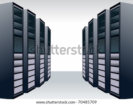 a unique server station vector illustration - stock vector