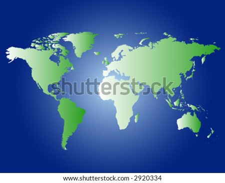 a vector background with all continents and the ocean