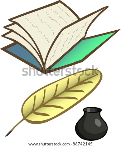 A vector bank for a poet.All objects are separated, the can be scaled or recolored without problems and quality loss. - stock vector
