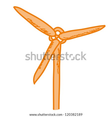 a vector cartoon representing a wind generator