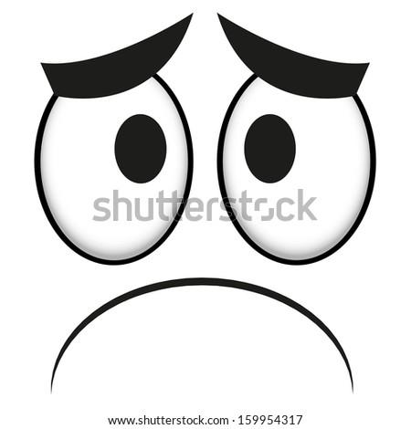 vector cute cartoon white sad face stock vector royalty free rh shutterstock com sad cartoon faces images sad cartoon face gif