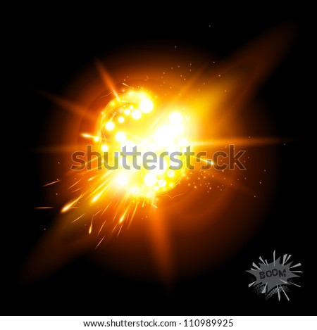 A Vector Explosion! Special effect with transparencies - stock vector