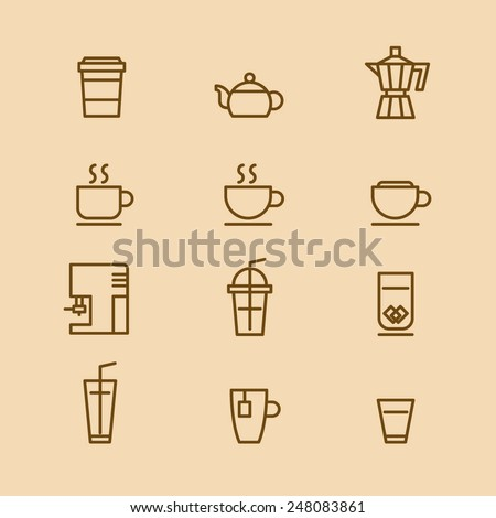 A vector graphic of coffee cup icon. - stock vector