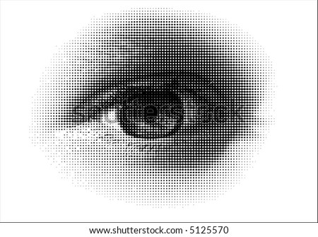 A vector halftone, based on my photo. - stock vector