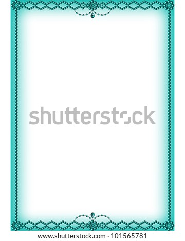 A vector illustrated Turquoise Bead Border