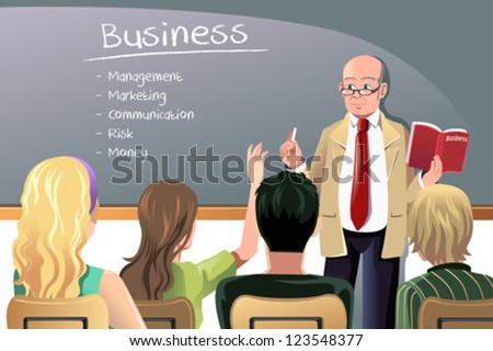 Vector Illustration Business Class Teacher Professor Stock Vector ...