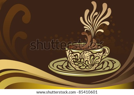 A vector illustration of a coffee mug - stock vector