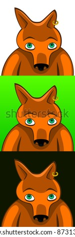 A vector illustration of a fox. Can be recolored or scaled without problems and quality loss - stock vector