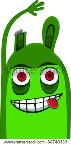 A vector illustration of a monster. Can be recolored or scaled without problems and quality loss - stock vector