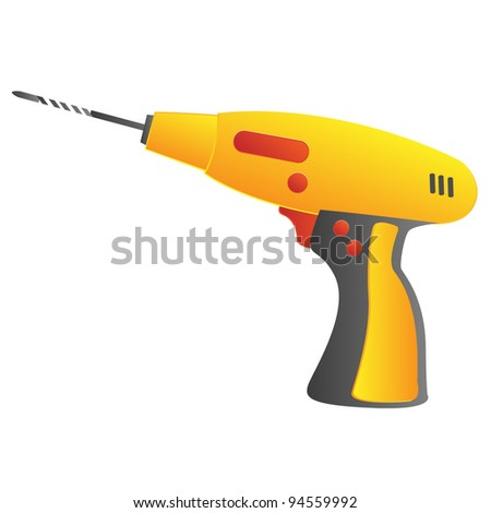 A vector illustration of a power drill.