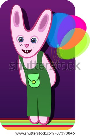A vector illustration of a rabbit. Can be scaled without quality loss. - stock vector