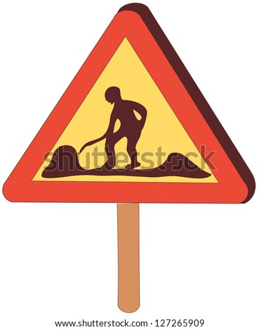 A vector illustration of a road sign