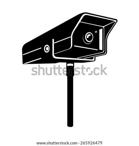 A vector illustration of a security camera. Security Camera. CCTV camera for observation and. - stock vector
