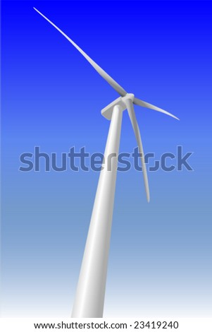 A vector illustration of a windmill on a Northern Ontario wind farm. - stock vector
