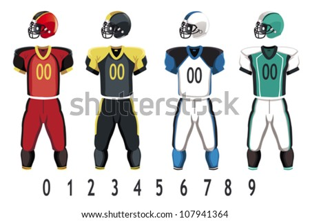A vector illustration of American football jersey