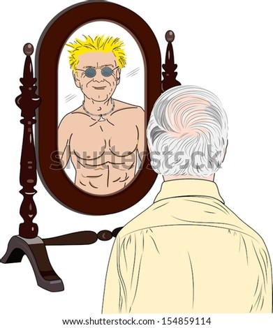 Image result for shutterstock pictures of a man looking in a mirror