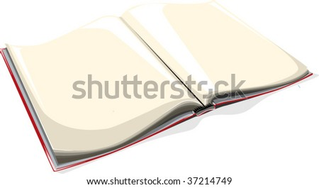 a vector illustration of an open book