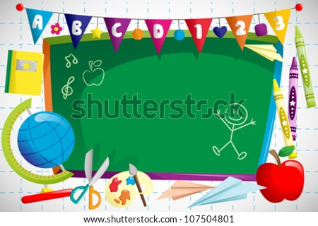 A vector illustration of back to school background