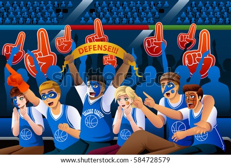Fans Cheering Stock Images Royalty Free Images Amp Vectors