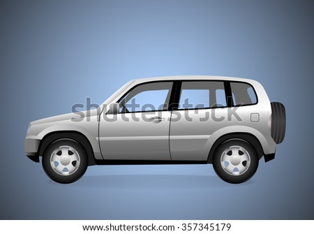 A Vector illustration of car.