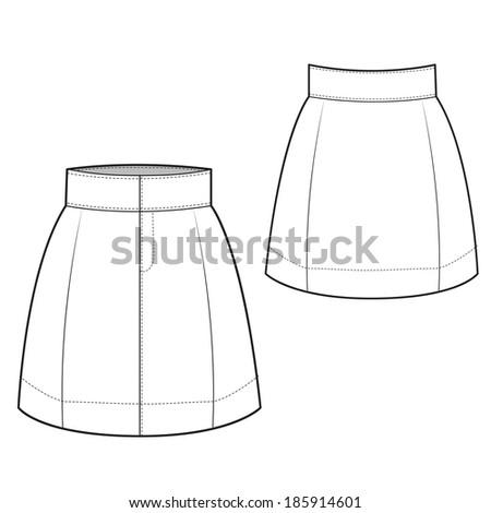A Vector Illustration of Chic Skirt - stock vector