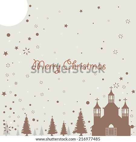 A vector illustration of Christmas background design