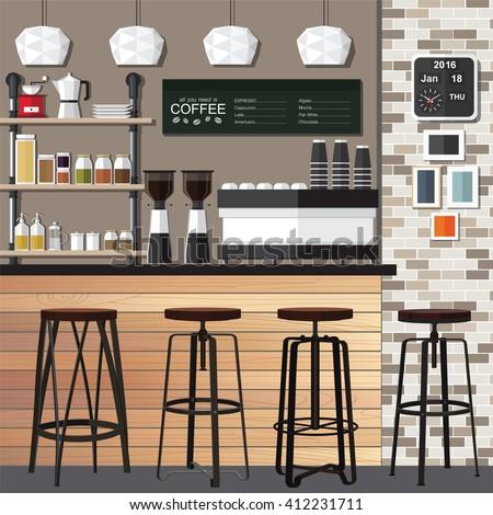 Puaypuay 39 s portfolio on shutterstock - Modern coffee shop interior ...