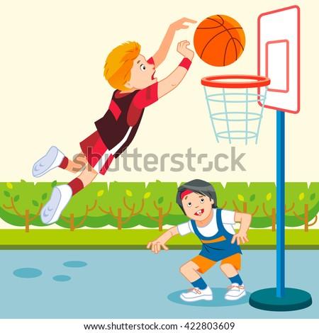 play basketball clipart