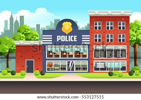 Police station animated