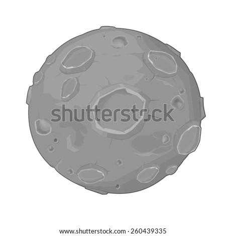 A vector illustration of the Earth's Moon. Moon. Earth's satellite moon.  - stock vector