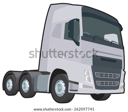 A vector image of a generic lorry cab - stock vector