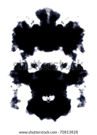 A vector image of a Rorschach ink blot - stock vector