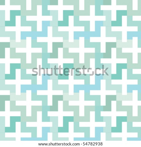 A vector patterns made with 'plus' sign. - stock vector