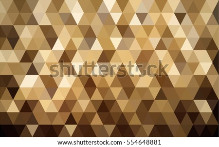 A vector photo of golden background in polygon texture.