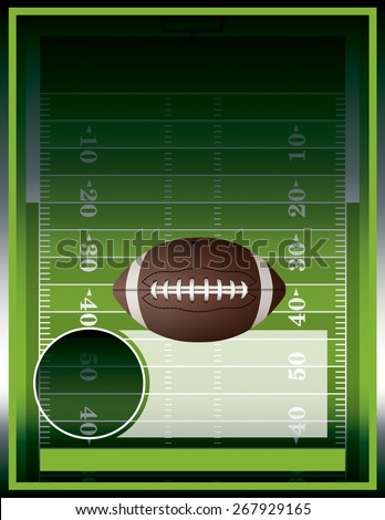 A vector poster design perfect for tailgate parties, football invites, etc.  - stock vector