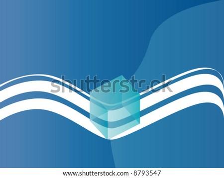 A vector representing a blue cube - stock vector
