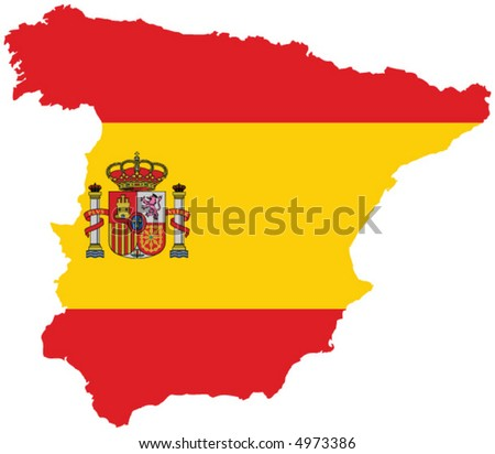 A vector representing spain and is flag