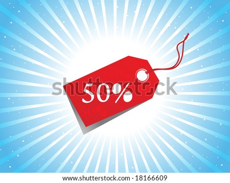 A Vector - sale tag with discount and background - stock vector