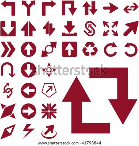 A vector set of useful arrows. - stock vector