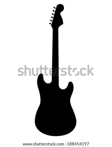 vector silhouette electric guitar stock vector 188454197 shutterstock rh shutterstock com electric guitar silhouette vector free electric guitar silhouette vector free