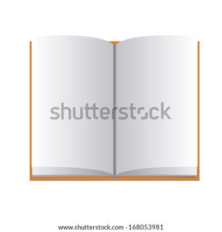 A Vector Simple Open Book Icon Isolated