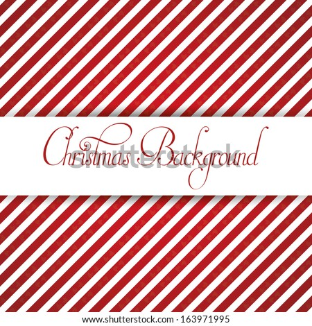 A Vector Stylish Christmas White And Red Background - stock vector