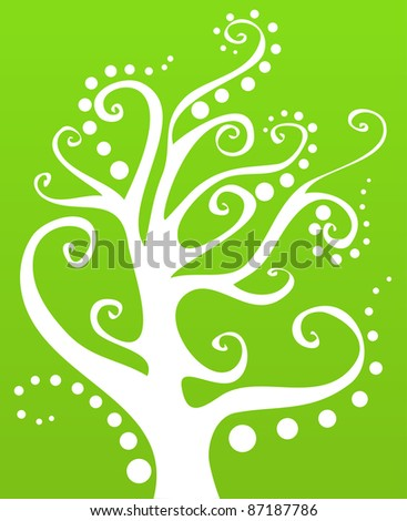A vector tree's silhouette. - stock vector