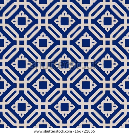 A vector vintage simple square pattern - stock vector